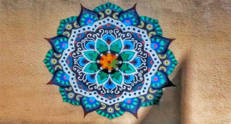 Hidden Wall Mandala finally spotted 😍😍 (Dhoûr Ech Choueïr, Mont-Liban, Lebanon)