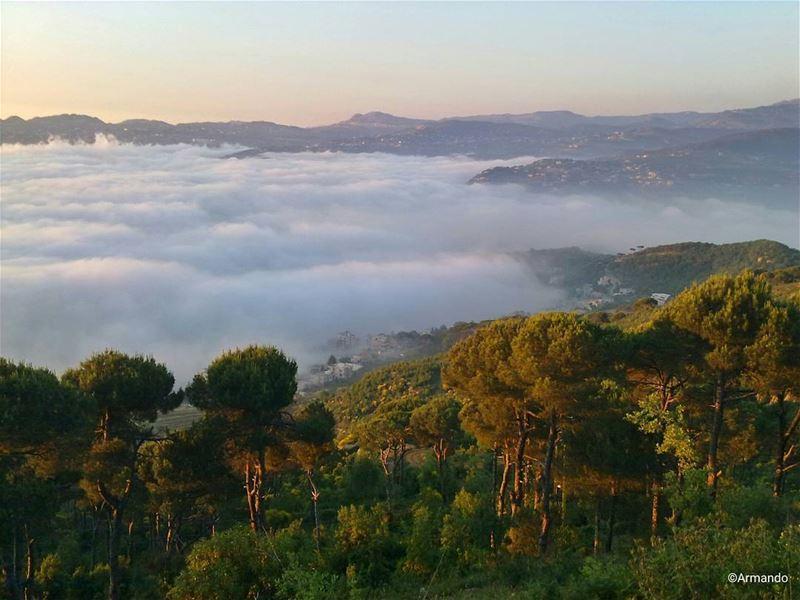 Clouds come floating into my life, no longer to carry rain or usher storm,... (Dhoûr Ech Choueïr, Mont-Liban, Lebanon)