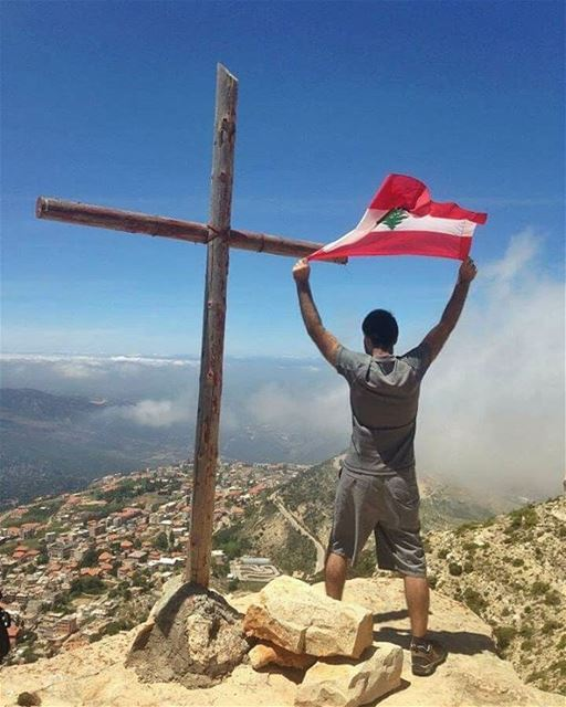 The higher the hill, the stronger the wind; so the loftier the life, the... (Ehden, Lebanon)