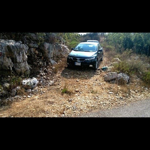 My car 2 days ago while watching Rally of Lebanon kia cerato forte ...