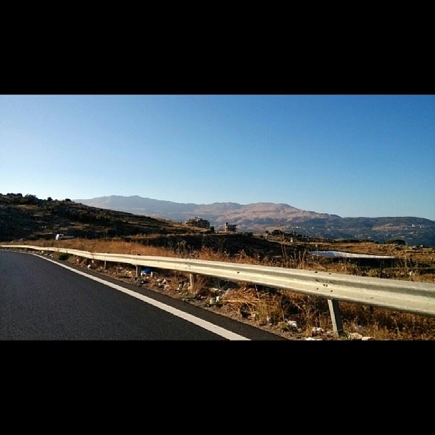 On the way to Zahleh this morning at 7:39 AM sunrise road mountains ... (Mtein)
