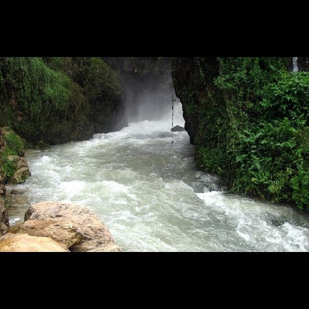 At the end of every waterfall in a beautiful site of a river waterfall ...