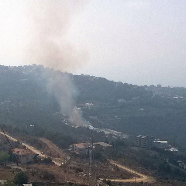 A cardboard factory on fire in Bikfaya. I know I'm late, but at least I...