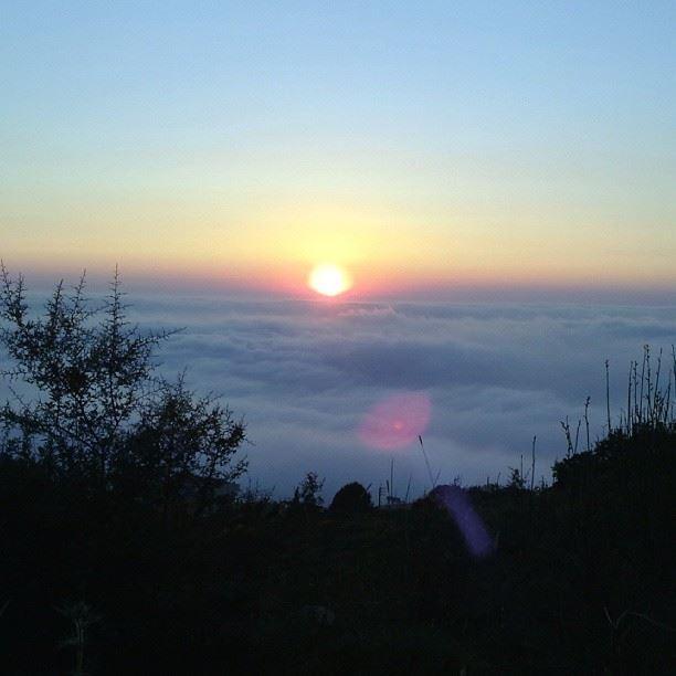 sunset above the fog clouds cloudporn sun insta_lebanon ...
