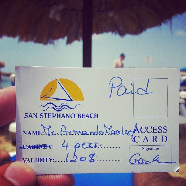 Sundays are Batroin beach days with friends! ;) beach sun nature water... (San Stephano Resort)