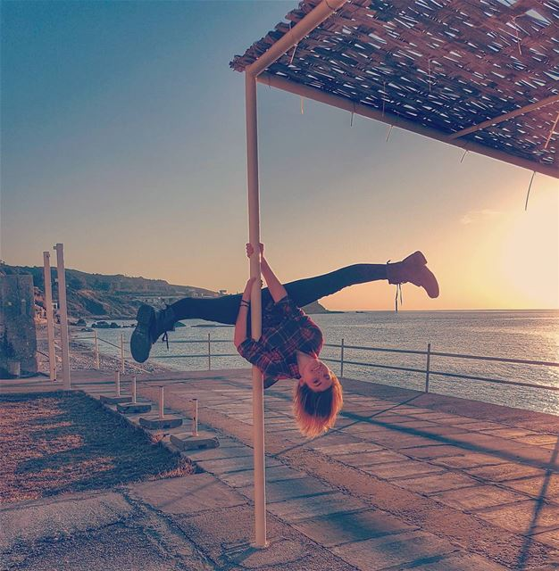 When it was a sunny day in Lebanon polefitlebanon streetpoledance ...