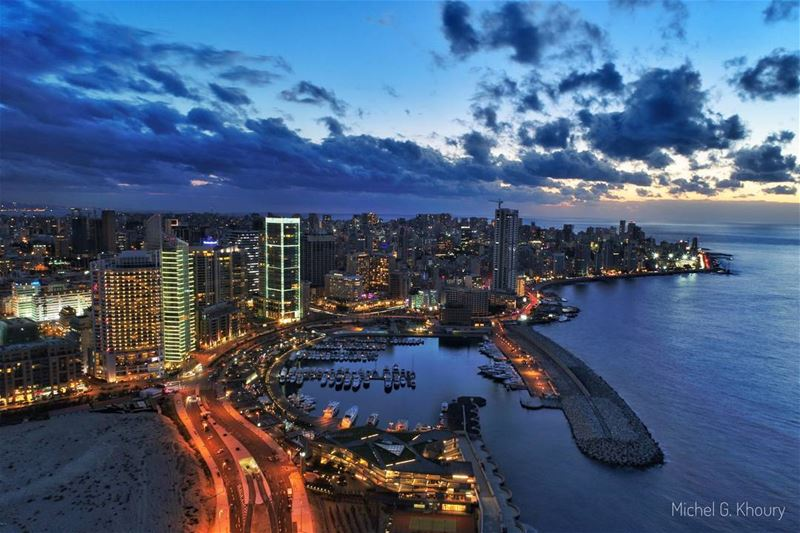 Don't get lost... it's B E I R U T ❤ LiveLoveBeirut AboveLebanon ... (Beirut Waterfront)