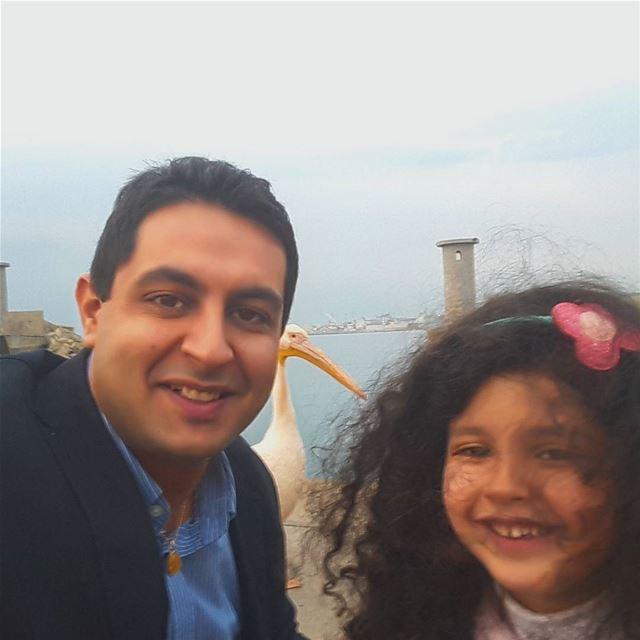 selfie with my princess maria batroun familytime relax cool trip... (Batroûn)