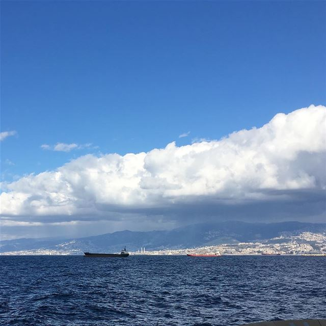 lebanon beirut beauty sea clouds ship goodbye sky winter ...