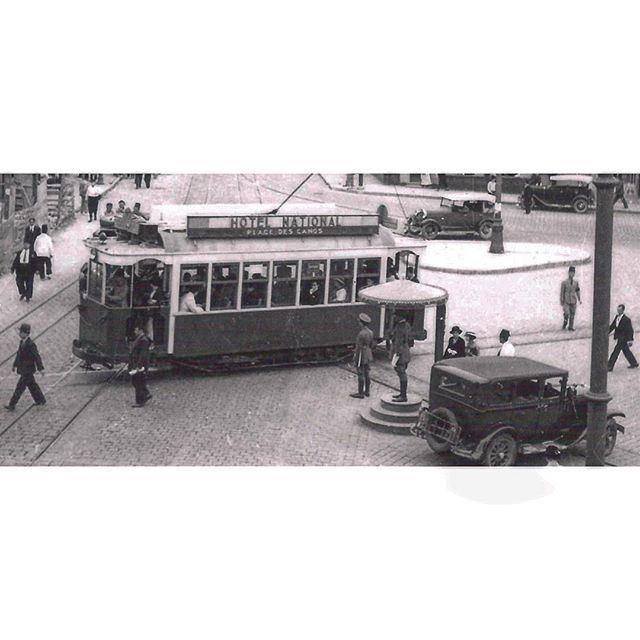 ترمواي بيروت ساحة البرج ١٩٣٥،