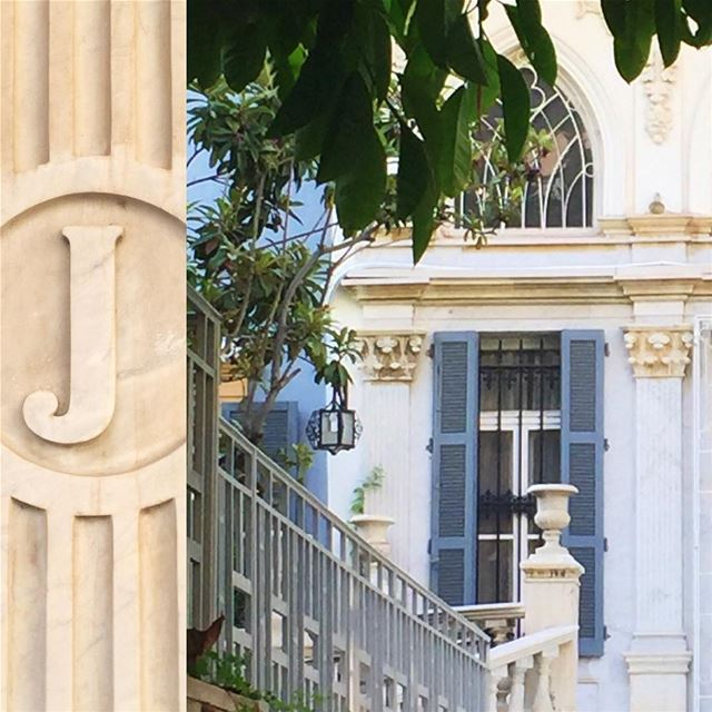 Who is the mysterious Mr. or Mrs. 'J' whose initial is carved on the front... (Sursock)