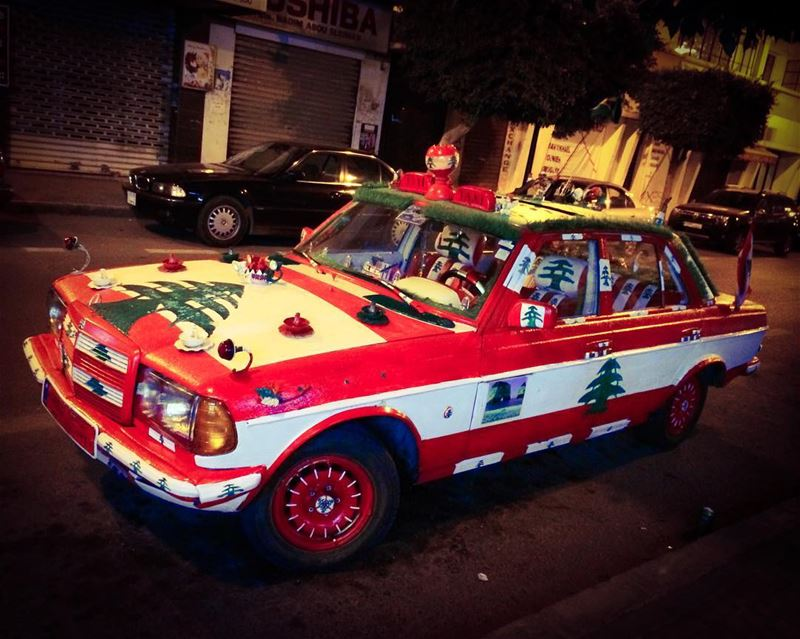 """Azizati"" (""My darling""), the best taxi in town ❤️💚! Decorated by its... (Badaro, Beirut)"
