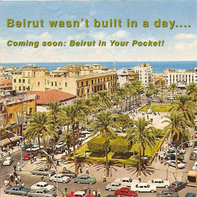Coming soon (inshallah), the first issue of Beirut In Your Pocket 😃.... (Martyrs' Square, Beirut)