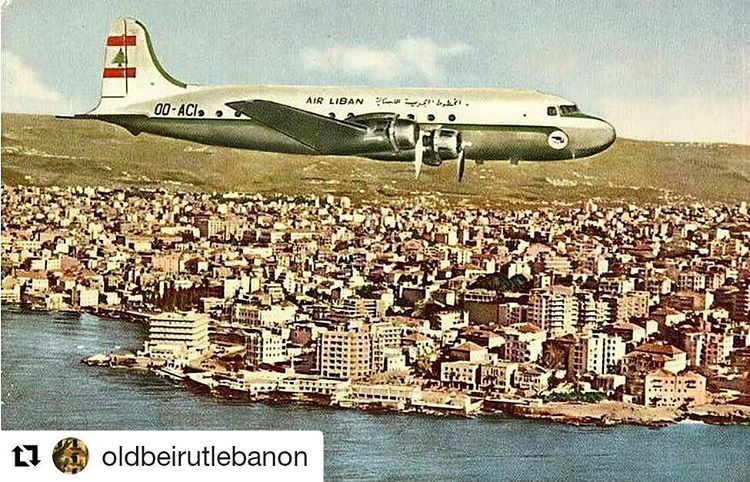 Air Liban arriving.... in 1956photo @oldbeirutlebanon  beirut  lebanon ... (Beirut–Rafic Hariri International Airport)