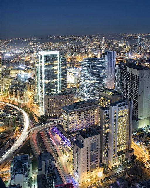 🇱🇧 Good night, beautiful Beirut!By @libano_brasil Beirut Liban ... (Beirut, Lebanon)