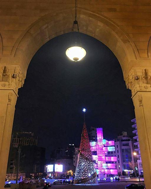 Thats our Christmas spirit ❤️, Good Night🌙By @buddcorp ... (Downtown, Beirut, Lebanon)