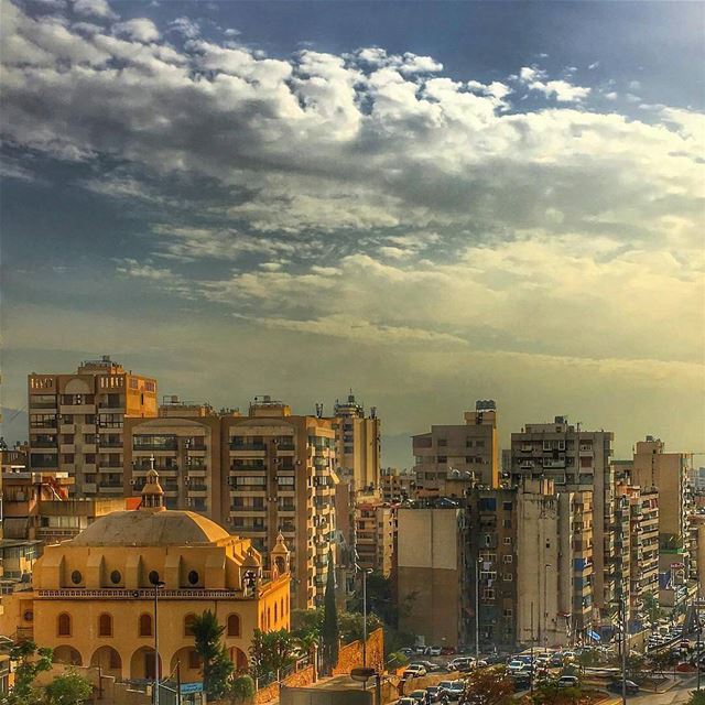 Good Morning Beirut ❤️☁By @a__farhat Beirut Liban Libano Lebanon... (Beirut, Lebanon)