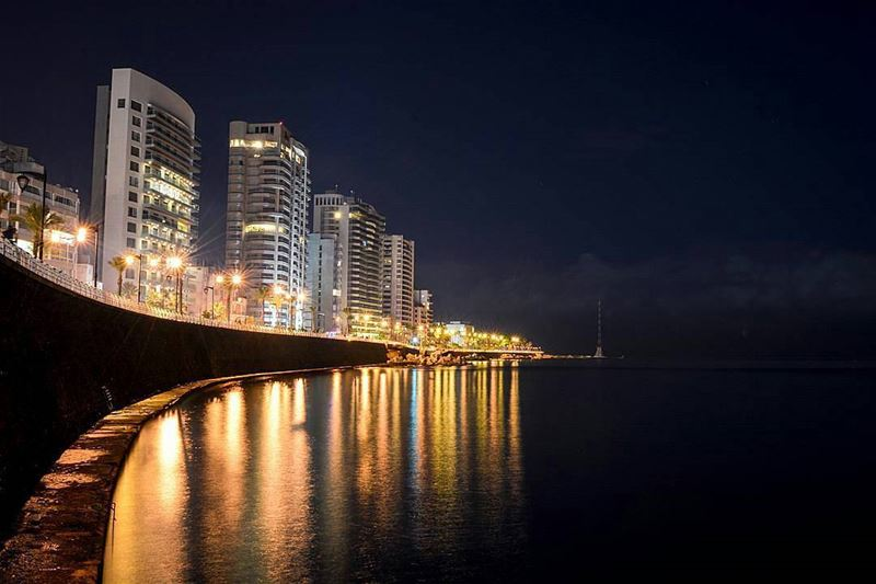 The shining lights of Beirut!✨🌙By @alexander_photography97 ... (Ain El Mrayseh)