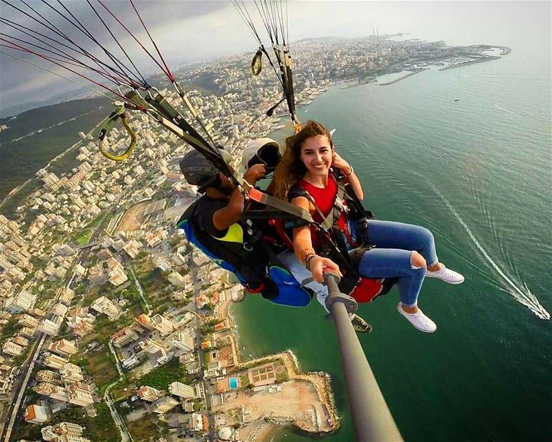 When you're the queen of the world👸and your crown👑 is our helmet😂💪 ... (Jounieh Bay)