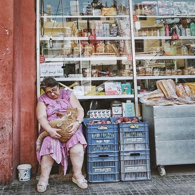 Sweetest lady in town.By @pamelakhawly MarMkhayel Gemmayze Beirut ... (Mar Mkhayel)