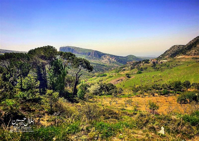 General view of the northeast mountain town of Bcharre, Lebanon. Lebanon ...