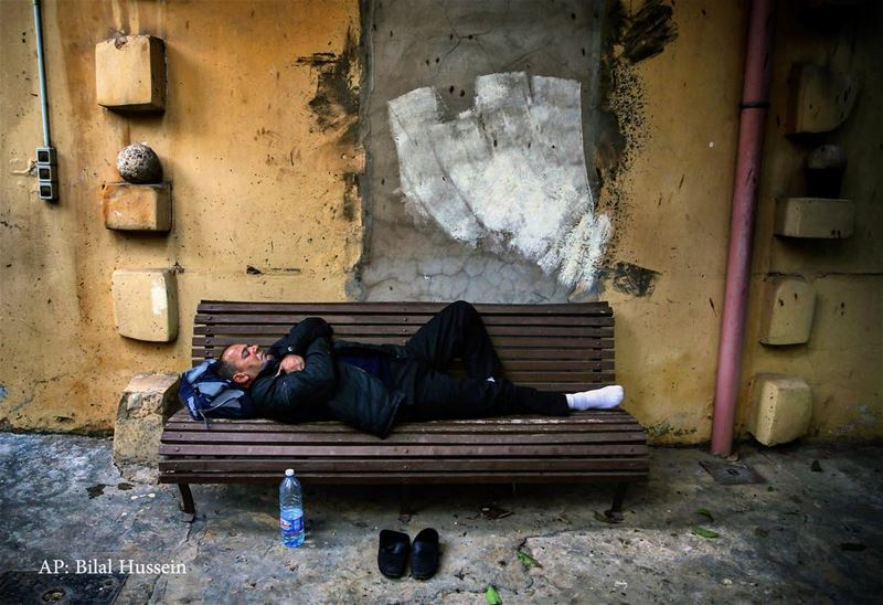 Syrian refugee Talal al-Bideiwi, who fled his home in Homs, Syria, with...