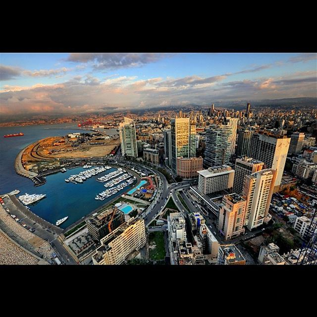 A general view of the Saint George Yacht Club in Beirut, Lebanon. Lebanon...