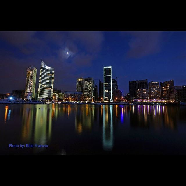 Beirut at night, Saint George Yacht Club in Beirut, Lebanon, Tuesday, July...