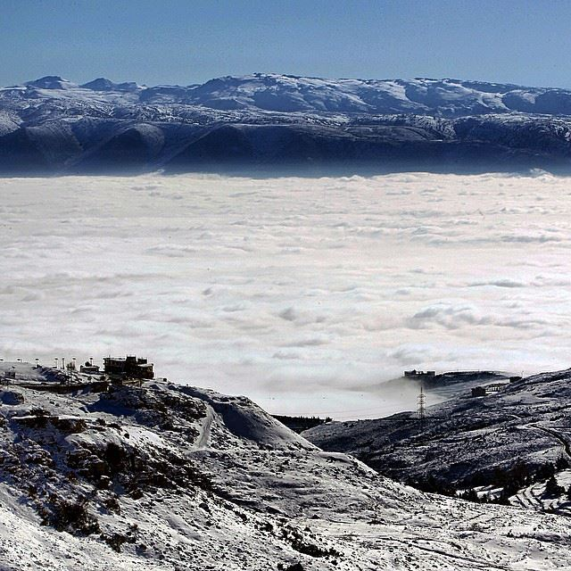 The fog covers Lebanon's Bekaa Valley. Lebanon ...