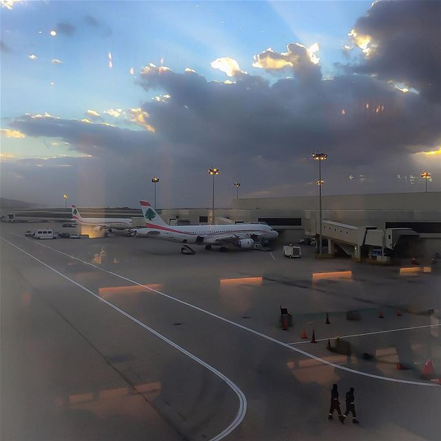 Beirut airport departures airports planes clouds cloudscape sky ...