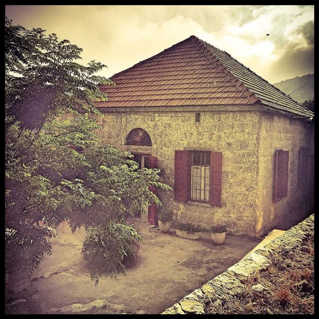Old village house tree oldhouse oldbeirutlebanon allwhatsbeautiful ...
