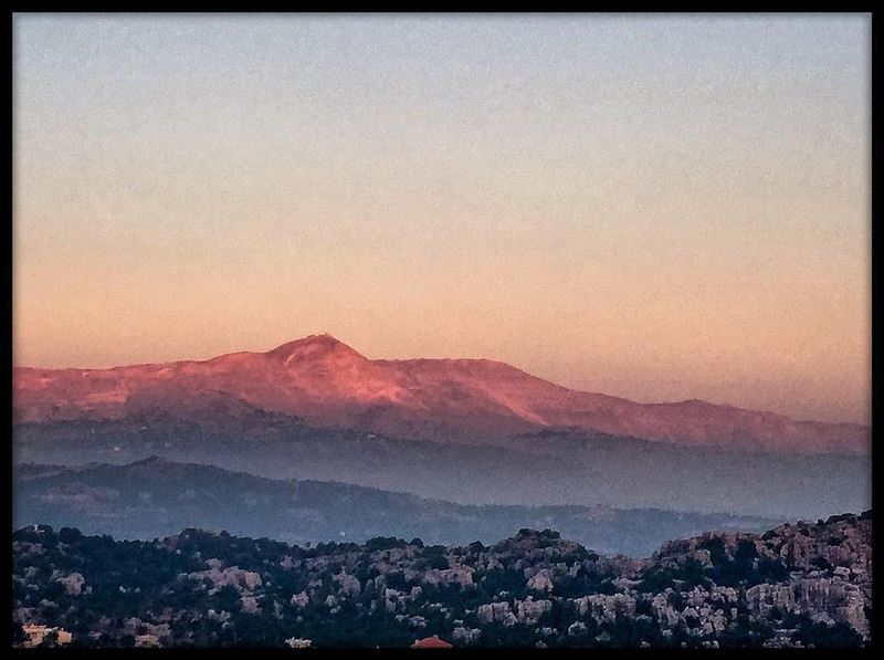 Pink sunset over the Lebanese mountains mountainlovers sunset_hub ...