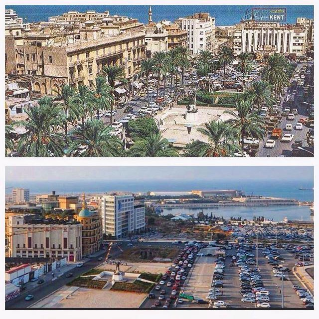 Beirut Martyrs Square 1967 - 2015 .