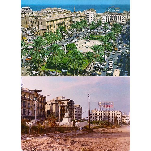 Beirut Martyrs Square 1967 - 1983 ,
