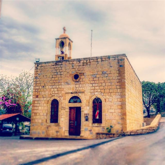 Old stone village church traditional stone church architecture ... (Deir Tamich)