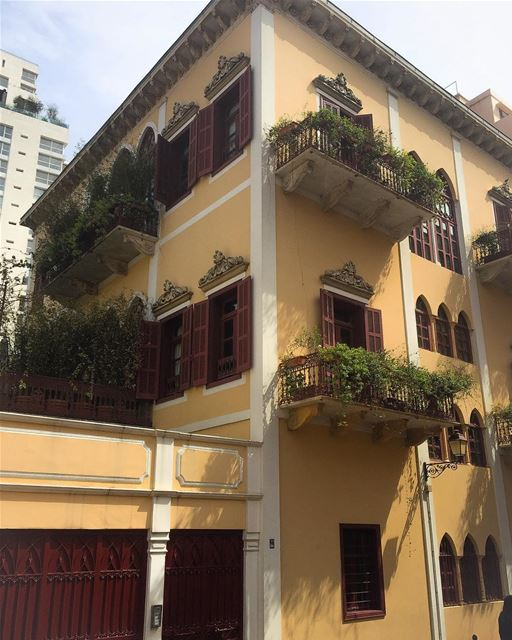 Beirut, downtown. architecture building authentic traditional ...