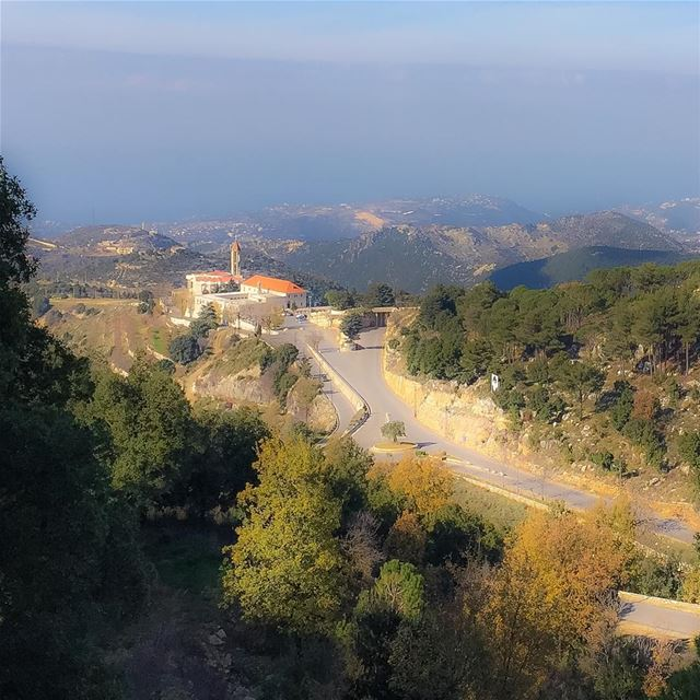 Monastery of Saint Charbel. Plunging view. landscape monastery ...