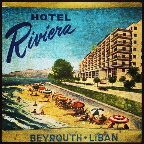 Beirut Riviera Hotel - 1966 .