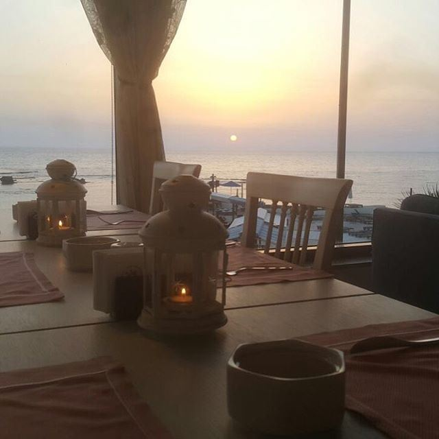 A sunset is the sun's kiss to the night... sunset instadaily ... (Byblos Sur Mer)