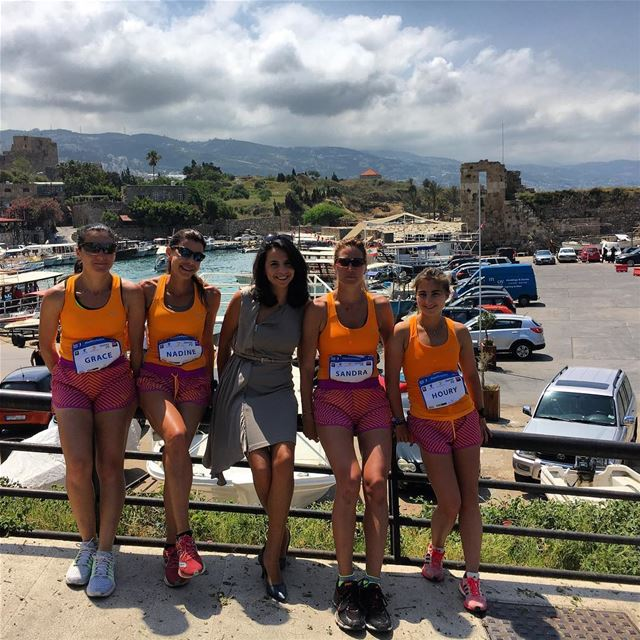 Welcoming the brave ladies running for the runsawa project to support ... (Byblos Sur Mer)