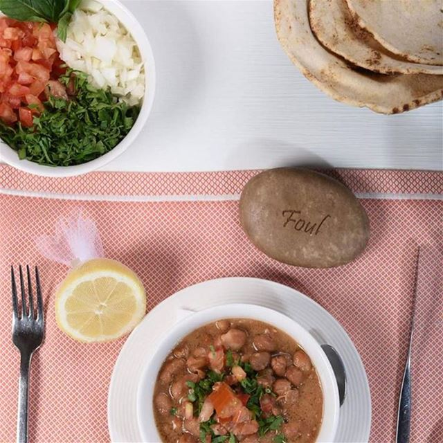 Weather is calling for a typical lebanese breakfast! food foul tasty...