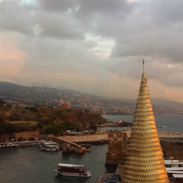 What a wonderful view from the top of the hotel! byblos hotel jbail...