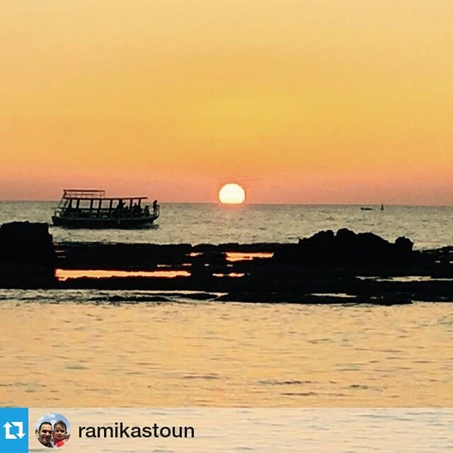 Spring Sunset by Byblos. sunset byblos byblos_lebanon beautiful boat fun...