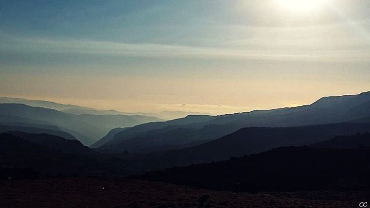 mountain sannine view sunset clouds sky livelovelebanon ...