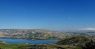 qaraoun lebanon mountains lake sky bekaa lebanon photography ...