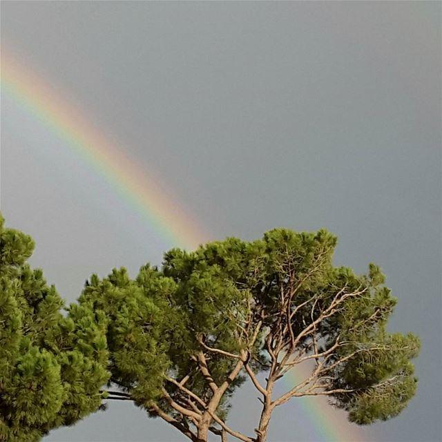 sunday morning rainbow lebanon sky colors instapic instagood ...