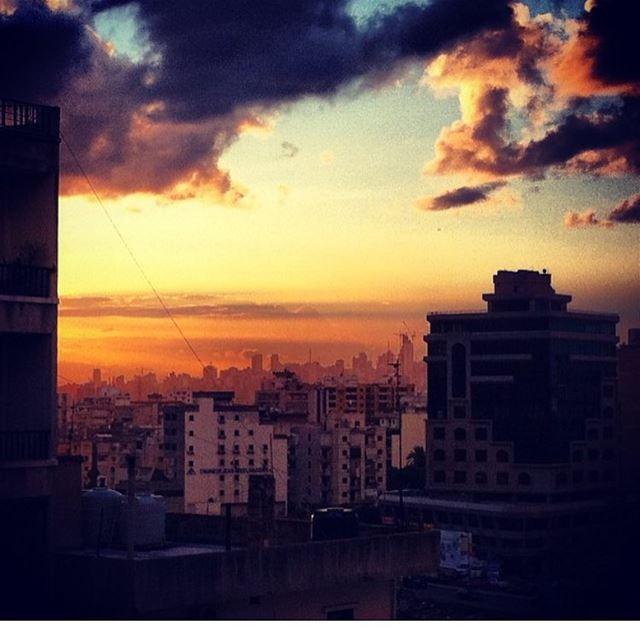 Warm skies in the winter cold.•••••••••••••••••• winter lebanon ... (Hazmieh)