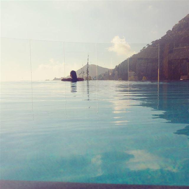 peace serenity mountain pool amazingview lebanon livelovelebanon ...