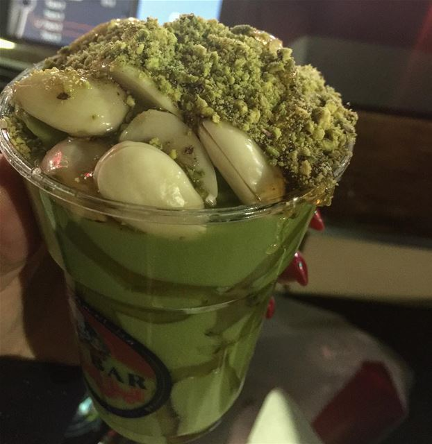 yummy avocado almond pistachio honey instafood like4like lebanese ... (مطعم و مشاوي بربر - الحمرا)