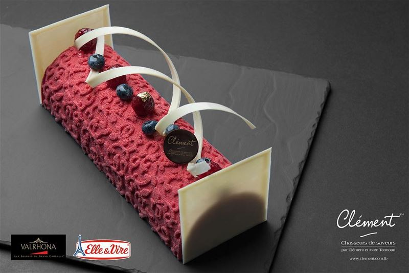 "This Christmas, choose between our irresistible ""Bûche aux Fruits Rouges"",..."